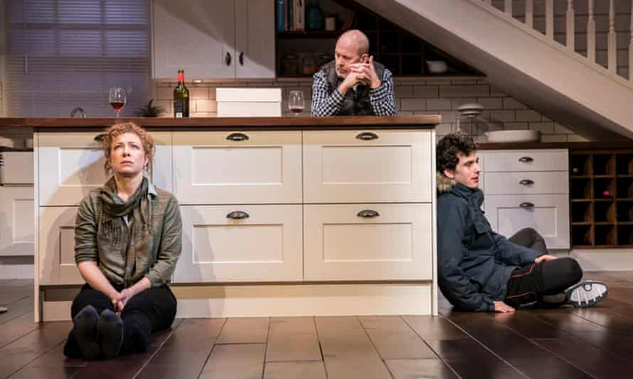 Hysterical rant ... Alex Kingston, Andrew Woodall and Ben Edelman in Admissions.