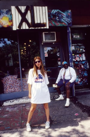 1993: Sofia Coppola in Adidas sneakers outside the X-Large store in New York City.