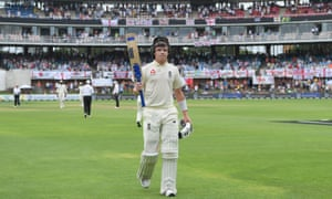 Ollie Pope of England leaves the field unbeaten on 135 runs after scoring his maiden Test century.