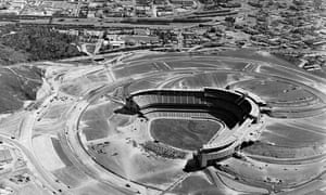 stadium under construction in March, 1962.