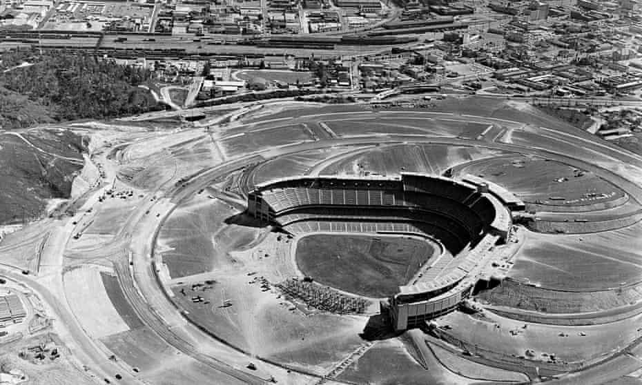 stadium under construction in March, 1962.