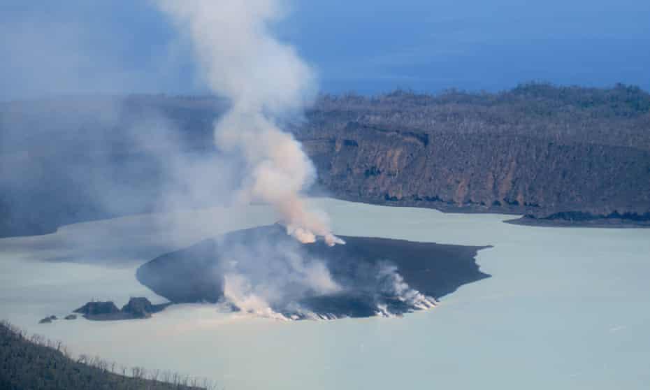 The Manaro volcano on Vanuatu's Ambae island pumps out smoke and ash