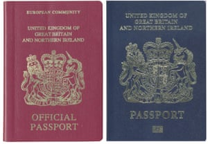 True colours: the return of the blue passport from the the EU's burgundy is a ticket to nowhere