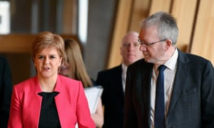 Nicola Sturgeon and Mike Russell.