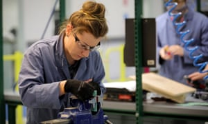 An apprentice at work at BAE Systems. Employers claim the current system is confusing.