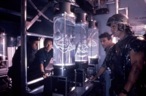 Aliens, 1986Interior/exterior sets and vehicles of the earth colony complex on the alien planet.