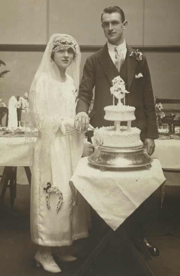 Ida and Tom, Tony Garnett's parents, on their wedding day.