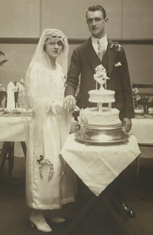Ida and Tom, Tony Garnett's parents, on their wedding day.