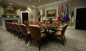 Another shot of the Roosevelt Room. The West Wing has been given 6,700 yards of new carpeting