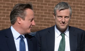 David Cameron (left) and Zac Goldsmith on a campaign visit in London