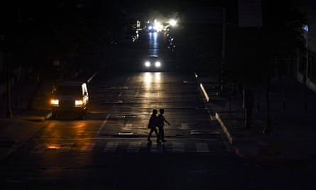 The lights went out in most of Caracas on Monday.