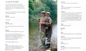 Charlie Higson and Paul Whitehouse as The Fast Show's Ted and Ralph and an early version of the Fishing sketch