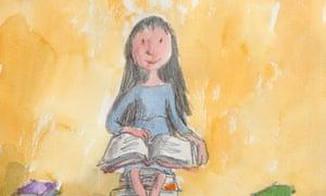 Quentin Blake illustration of Matilda