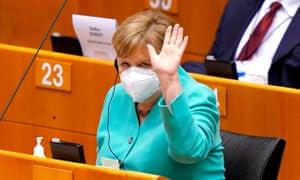 Angela Merkel … on message.
