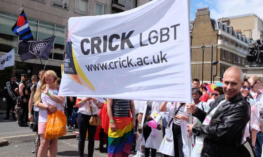 The Crick Institute marches with Pride