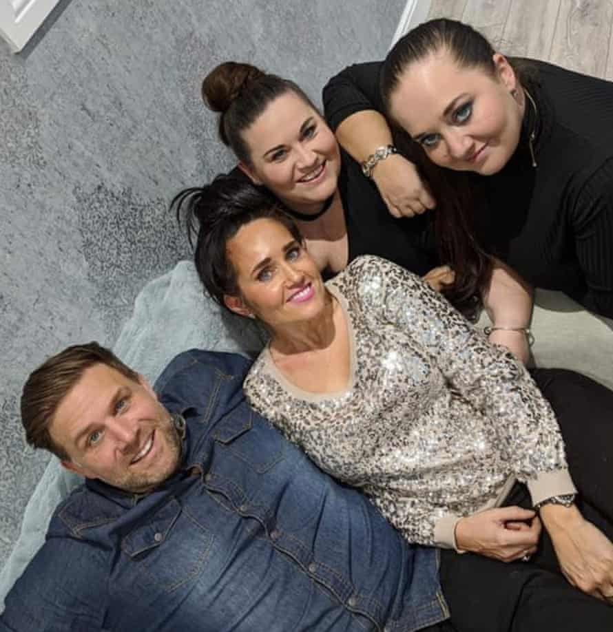 Danny, Vicki, Donna and Steph on Christmas Day 2019