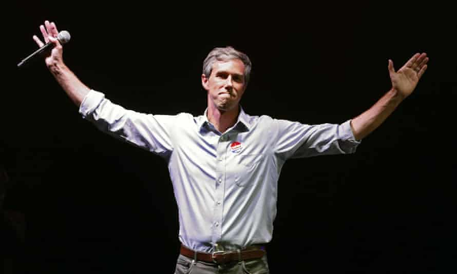 Beto O'Rourke drops out of 2020 presidential elections<br>epa07965993 (FILE) - Democratic Senate candidate Beto O'Rourke at his election night watch party in the 2018 midterm general election at the Southwest University Ballpark in El Paso, Texas, USA, 06 November 2018 (reissued 02 November 2019). According to reports O'Rourke announced on 01 November 2019 that he is dropping out of the 2020 presidential race. EPA/LARRY W. SMITH