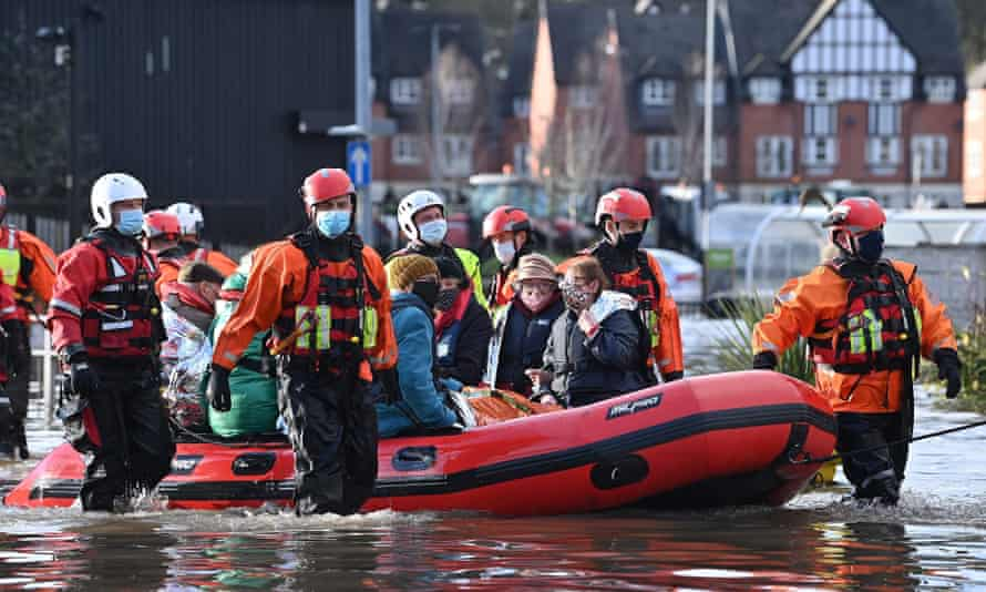Emergency services evacuate care home residents stranded by flood water in Northwich