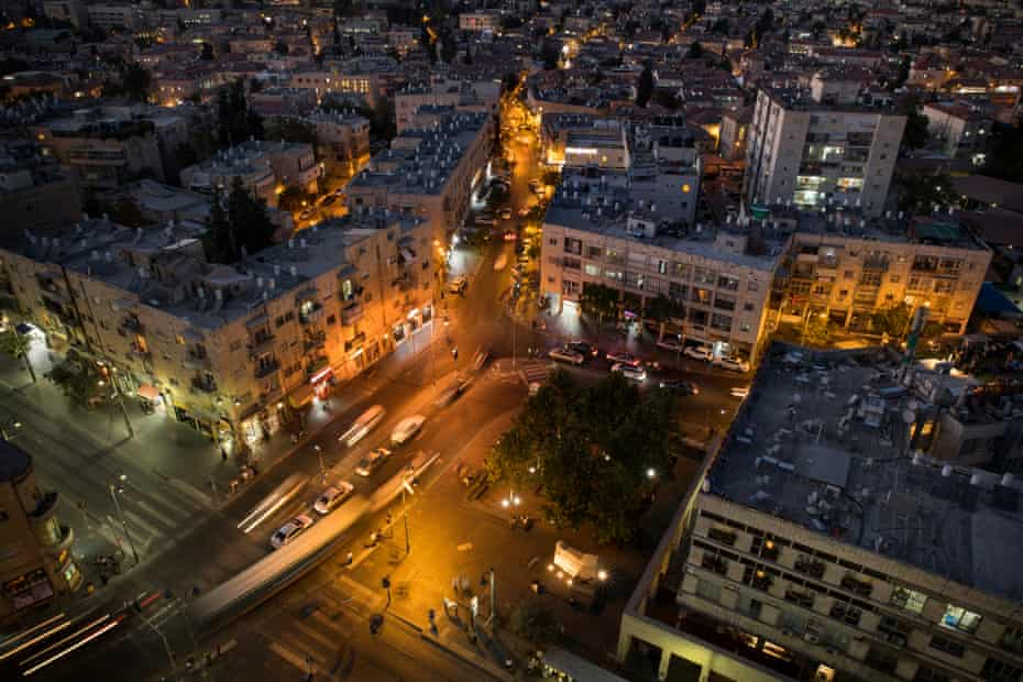 A view from the roof of the Clal Centre on Jaffa Road