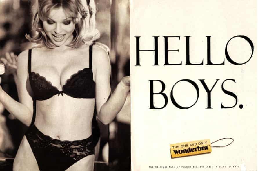 Eva Herzigová's 1994 Wonderbra advert.