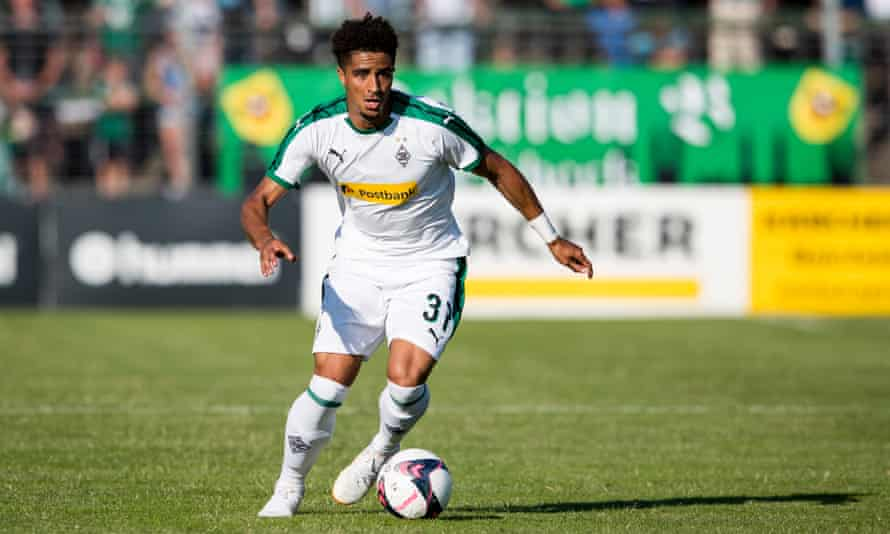 Keanan Bennetts during the pre-season friendly against VfB Lübeck which his new club Borussia Mönchengladbach won 2-0, with Bennetts opening the scoring.