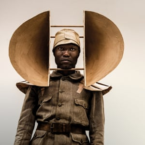 One of Kentridge's wearable sculptures for The Head and the Load.