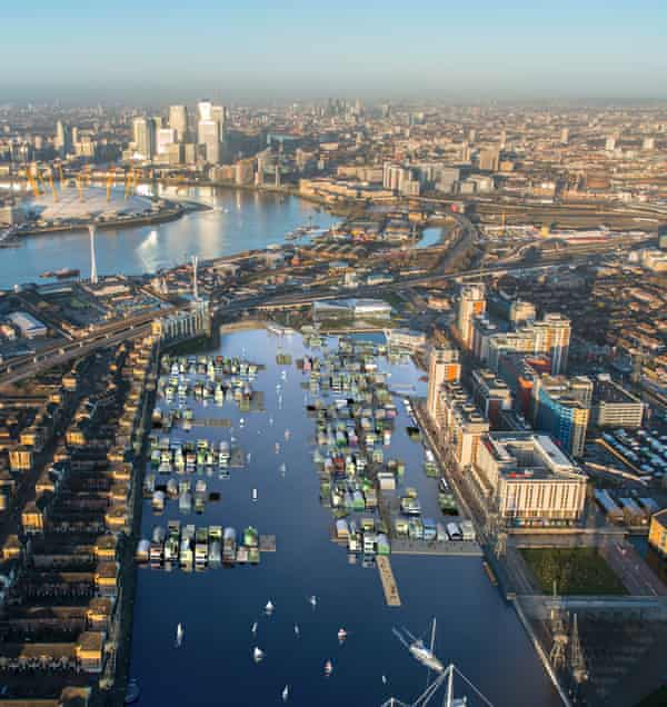 Aerial illustration of DRMM's Docklands project
