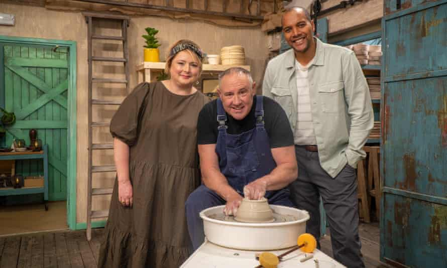 Kiln-fired delight … Siobhán McSweeney, Keith Brymer Jones and Rich Miller.