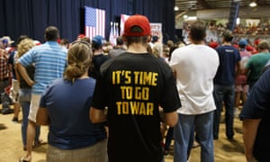 Supporters of Republican presidential candidate Donald Trump