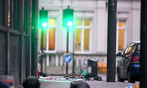 Items left on the pavement at the scene in Streatham High Road, south London, after a man was shot dead by armed officers, with police declaring the incident as terrorist-related.