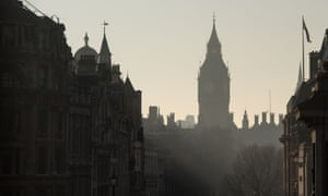 Palace of Westminster seen from Whitehall