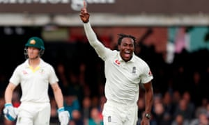 England's Jofra Archer celebrates at Lord's