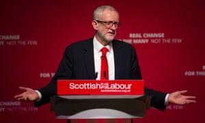 Jeremy Corbyn at the Scottish Labour conference.