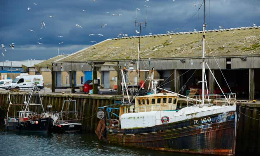 Fleetwood dock on the Wyre coast in Lancashire