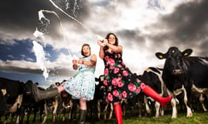 Sophie and Jess Vaughan with the herd at Hardwicke Farm in Gloucestershire