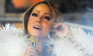 Mariah Carey performs in Times Square on New Year's Eve.