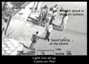 Annotated still from the Collateral Murder leaked video.