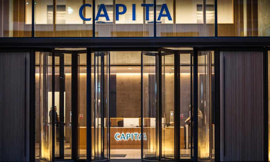 The Capita offices in London. The company is one of the government's biggest contractors.