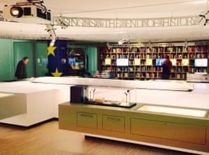 Exhibition space and artefacts in the House of European History.
