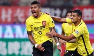 Paulinho, seen here during his first stint with Guangzhou Evergrande, won the league and cup double with Barcelona last season.