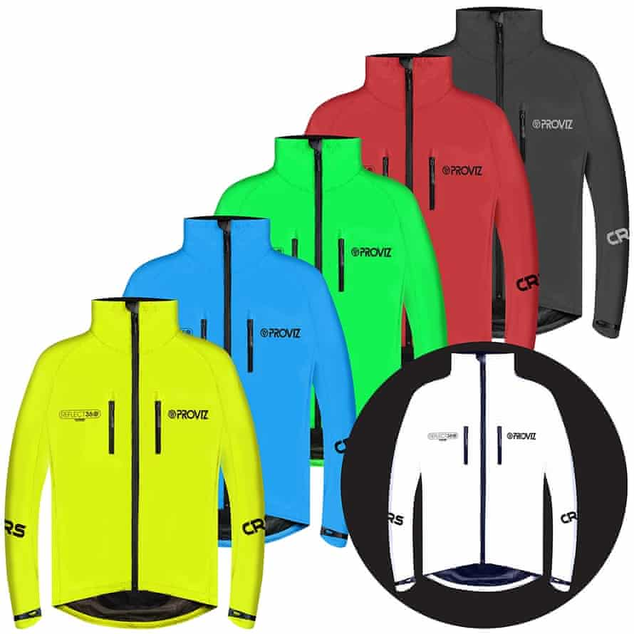 Rainbow warrior: the bestselling Proviz Reflect360 jacket now comes in five colours, plus the original silver