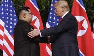Kim Jong-un and Donald Trump meet in Singapore in June. High-level talks between the two countries due to take place on Thursday were abruptly cancelled.