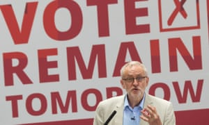 Jeremy Corbyn at a conference in 2016.