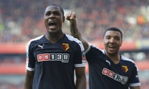 Watford's Odion Ighalo and Troy Deeney