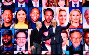 Meg Whitman and Jeffrey Katzenberg in January 2020.