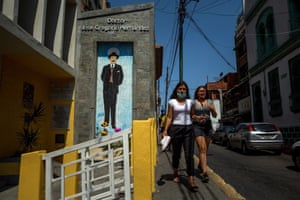 Pedestrians pass a shrine dedicated to doctor José Gregorio Hernandez in Caracas. After more than a century of veneration, the doctor who combined his scientific knowledge with a deep religious vocation will be beatified on 30 April