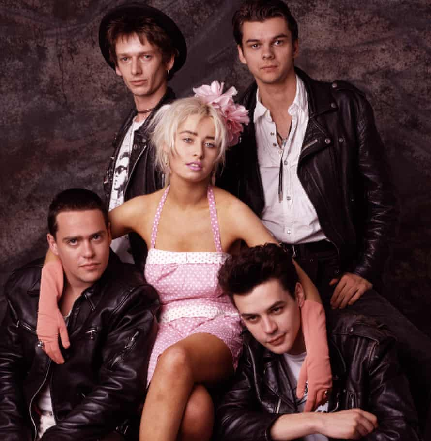 Transvision Vamp in 1988 … Wendy James centre with (clockwise from top left) Nick Christian Sayer, Pol Burton, Dave Parsons and Tex Axile.