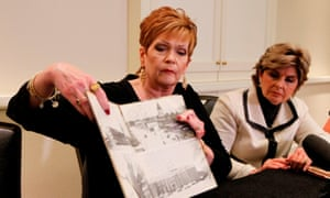Beverly Young Nelson, pictured with her yearbook, accused Roy Moore of sexually assaulting her when she was 16.