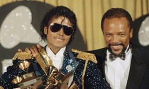 Michael Jackson (left) and producer Quincy Jones.