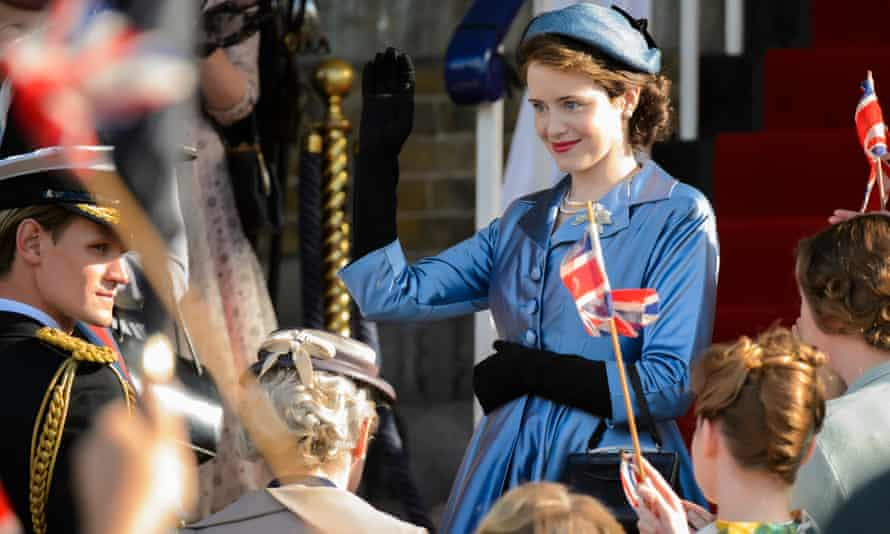 Claire Foy as the young Queen in The Crown